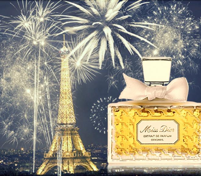 Przykład klasycznej piramidy zapachowej. Miss Dior